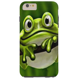 Adorable Funny Cute Smiling Green Frog In Tree Tough iPhone 6 Plus Case
