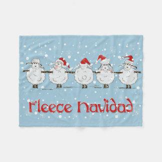 Adorable FUNNY Fleece Navidad Christmas Sheep