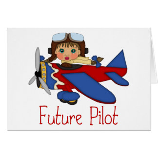 Adorable Future Pilot, Helicopter Pilot  - GIRLS Card