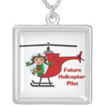Adorable Future Pilot, Helicopter Pilot  - GIRLS Necklace