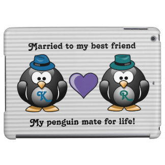 Adorable Gay Penguins Two Grooms Love Heart Hat