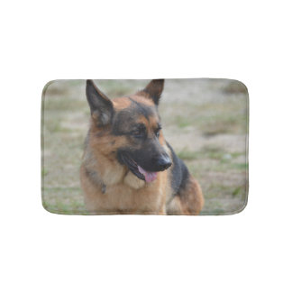 Adorable German Shepherd Bath Mat