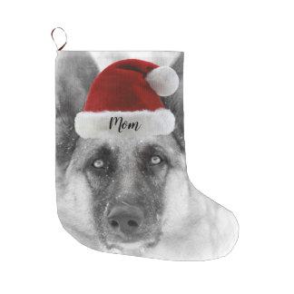 Adorable German Shepherd Christmas Stocking