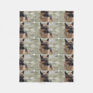 Adorable German Shepherd Fleece Blanket