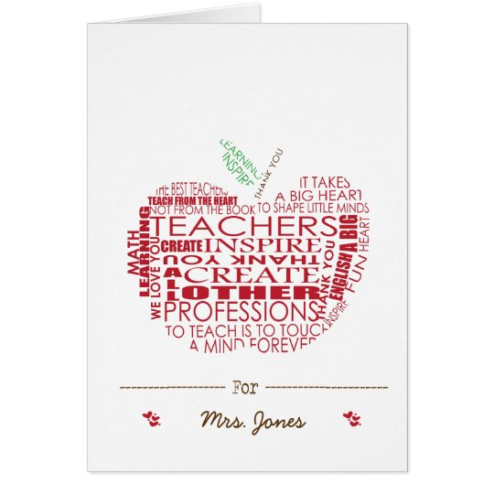 Adorable Gift for Teachers Card