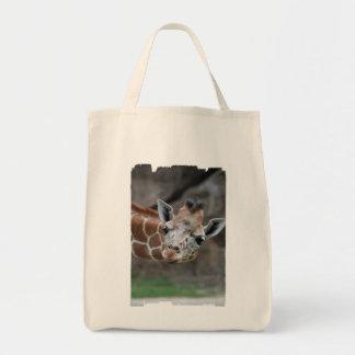 Adorable Giraffe Grocery Tote Bag