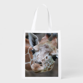 Adorable Giraffe Reusable Grocery Bag