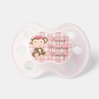 Adorable Girl Monkey in Pink Dummy