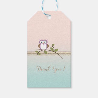 Adorable Girly Cute Owl Gift Tags