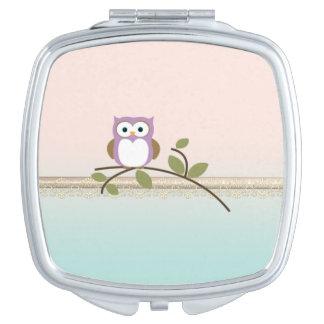 Adorable Girly Cute Owl Makeup Mirror