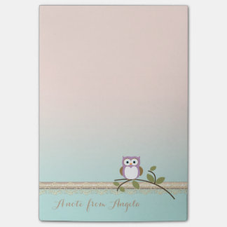 Adorable Girly Cute Owl Post-it Notes
