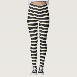 Adorable Girly Cute, Striped Leggings