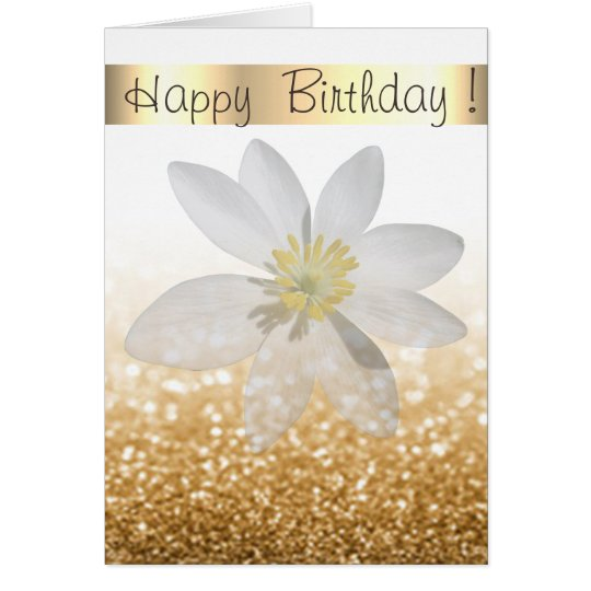 Adorable Girly,Daisy ,Glittery,Bokeh ,Personalised Card