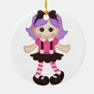 Adorable Girly Doll Christmas Ornament