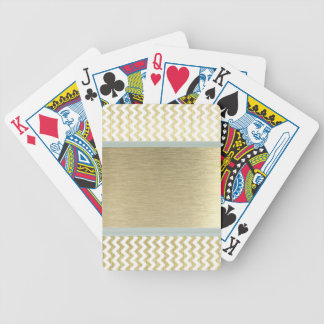 Adorable Glamorous chevron gold Bicycle Playing Cards