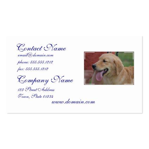 Adorable Golden Retriever Business Card