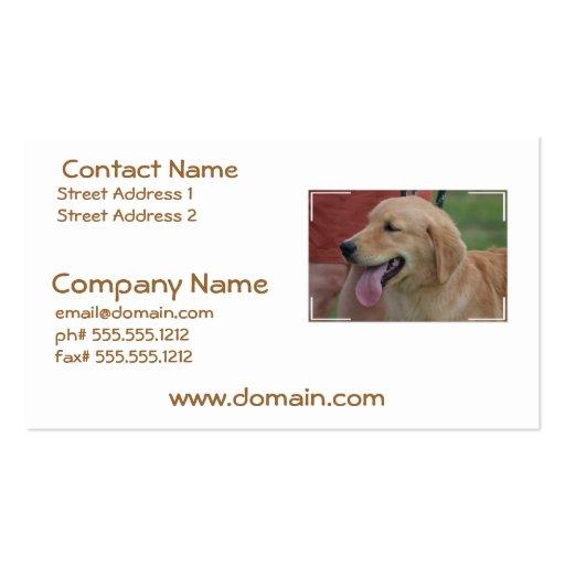 Adorable Golden Retriever Business Card Template