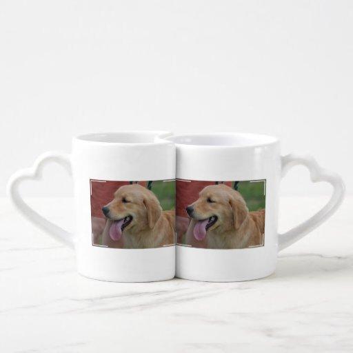 Adorable Golden Retriever Couple Mugs