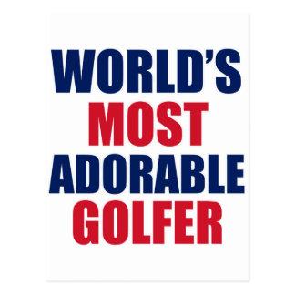 Adorable golfer post cards
