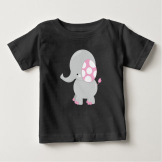 Adorable Gray Baby Elephant Design Baby T-Shirt