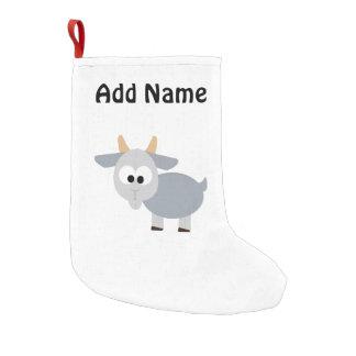 Adorable gray goat small christmas stocking