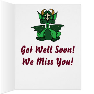 Adorable Green Little Baby Dragon Big Greeting Card