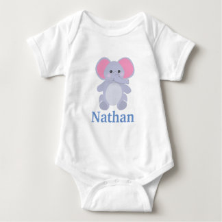 Adorable Grey Elephant Boy baby shower Baby Bodysuit
