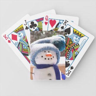 Adorable Handmade Snowman Playing Cards