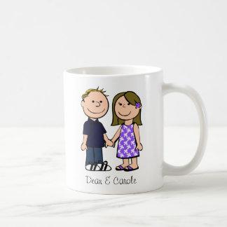 Adorable He & She Basic White Mug