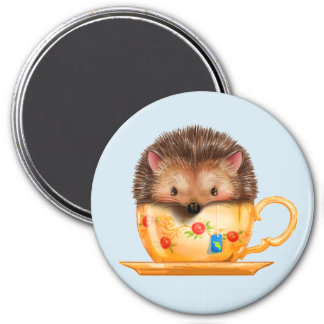 Adorable Hedgehog In Teacup Magnet