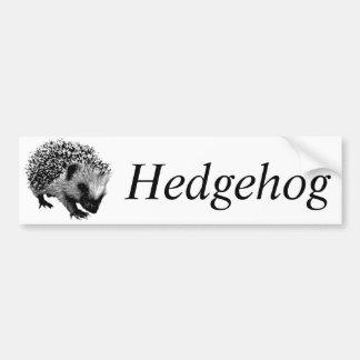 Adorable Hedgehog. Wildlife Digital Engraving Bumper Sticker