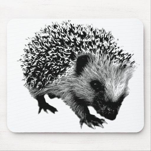 Adorable Hedgehog. Wildlife Digital Engraving Mousepad