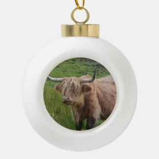 Adorable Highland Cow Ornament
