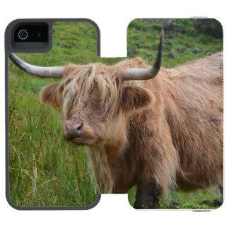 Adorable Highland Cow Incipio Watson™ iPhone 5 Wallet Case