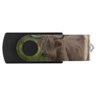 Adorable Highland Cow Swivel USB 2.0 Flash Drive