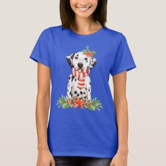 Adorable Holiday Dalmatian Puppy T-Shirt