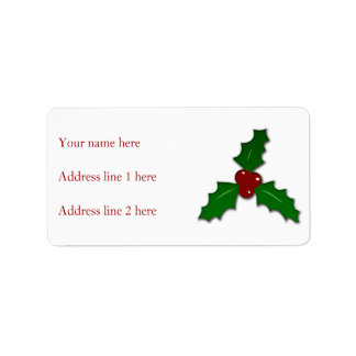 Adorable Holy twig Christmas Address Label