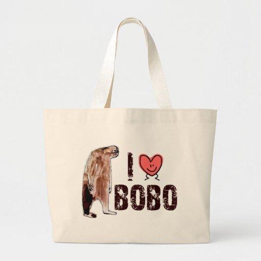 Adorable!  I LOVE <3 BOBO design - Finding Bigfoot Canvas Bags