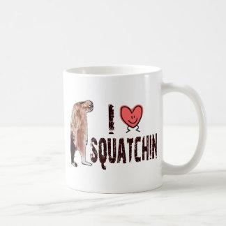 Adorable!  I LOVE <3 SQUATCHIN - Finding Bigfoot Basic White Mug