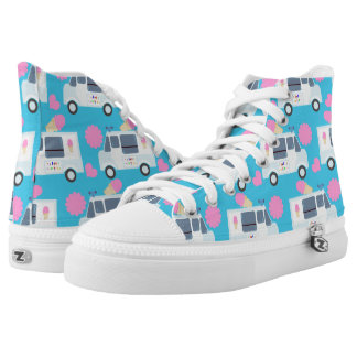 Adorable Ice Cream Truck Printed Shoes