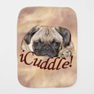 Adorable iCuddle Pug Puppy Burp Cloth