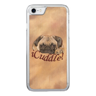 Adorable iCuddle Pug Puppy Carved iPhone 8/7 Case