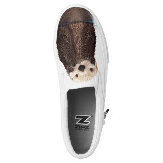 Adorable Illustrated Otter Slip-On Shoes