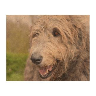 Adorable Irish Wolfhound Cork Paper Print