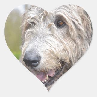 Adorable Irish Wolfhound Heart Sticker