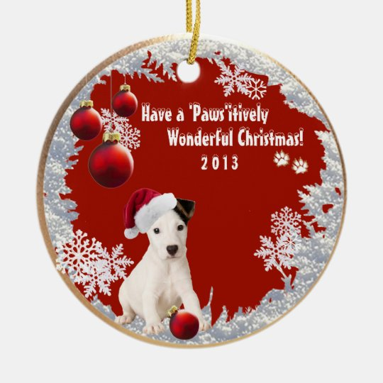 Adorable Jack Russell Number 2 Christmas Ornament