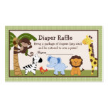Adorable Jungle Buddies Diaper Raffle Tickets Pack Of Standard Business Cards