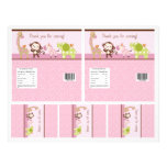 """Adorable """"Jungle Girl"""" Candy Bar Labels 2 sizes Full Colour Flyer"""