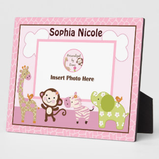 Adorable Jungle Jill/Girl Animals Photo Plaque