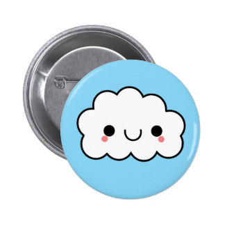 Adorable Kawaii Cloud Button